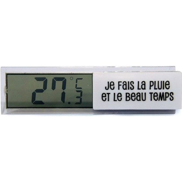 Thermom tre digital d 39 int rieur blanc station m t o for Thermometre interieur precis
