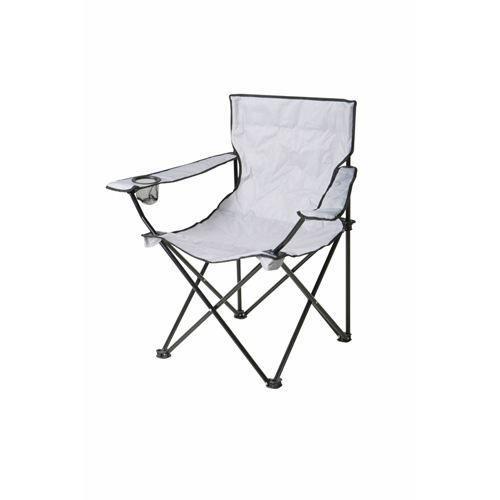 chaise de camping pliable clivia gris achat vente chaise de camping chaise de camping. Black Bedroom Furniture Sets. Home Design Ideas