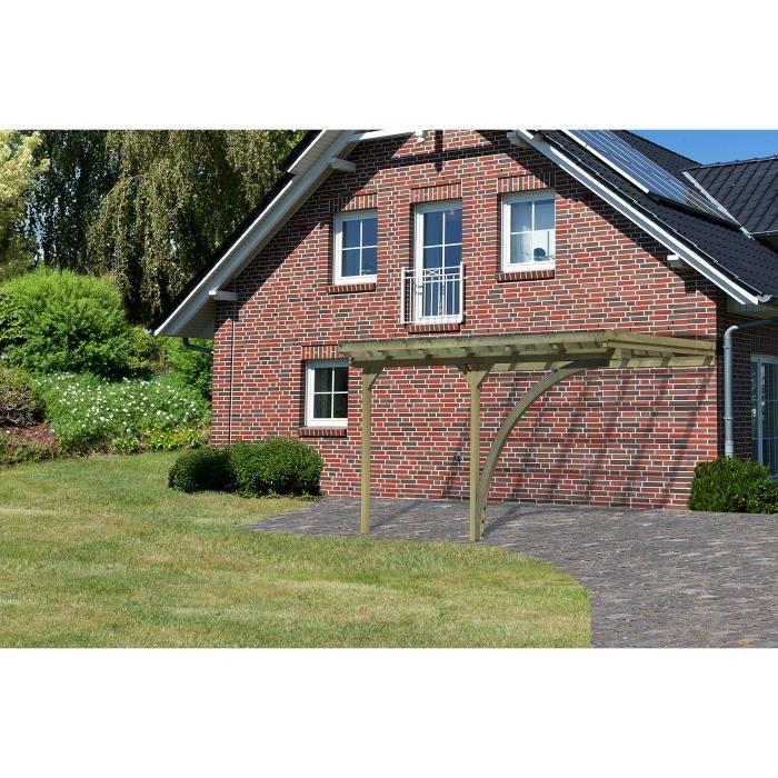 carport en bois adossable avec un arc eco 2 38 achat vente carport carport en bois. Black Bedroom Furniture Sets. Home Design Ideas