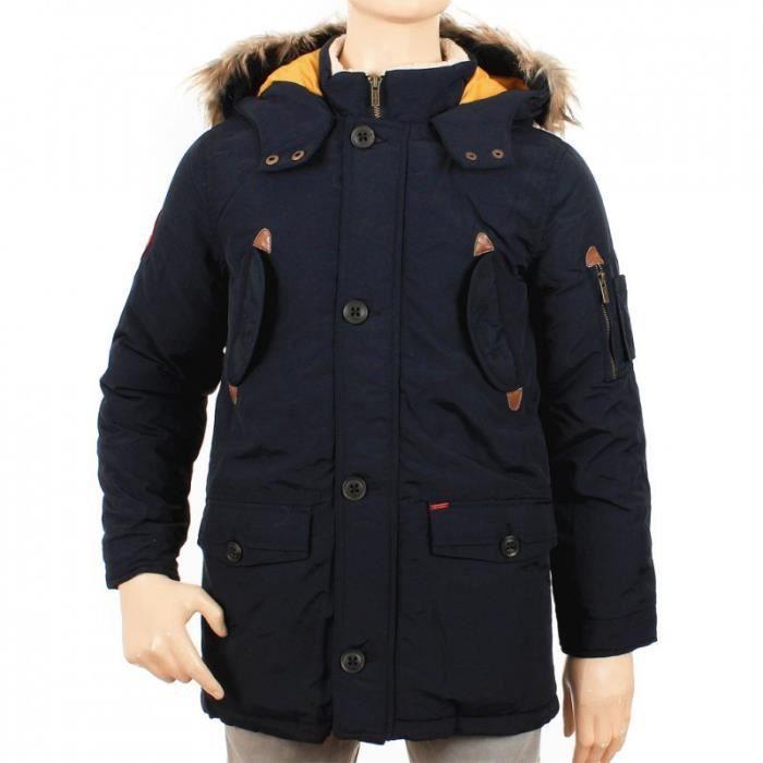 manteau pepe jeans enfant bleu achat vente manteau caban cdiscount. Black Bedroom Furniture Sets. Home Design Ideas