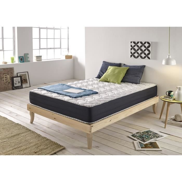 matelas blue memory 140x190 cm en mousse a m moire gel latex 25 cm haut de gamme naturalex. Black Bedroom Furniture Sets. Home Design Ideas