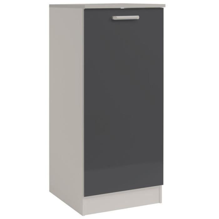 Paris prix armoire de cuisine 60cm shiny gris achat for Armoire a petit prix