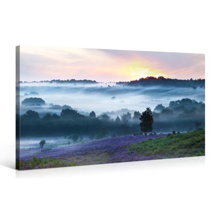 Tableau sur toile vall e 100x50cm achat vente for Tableau impression sur toile