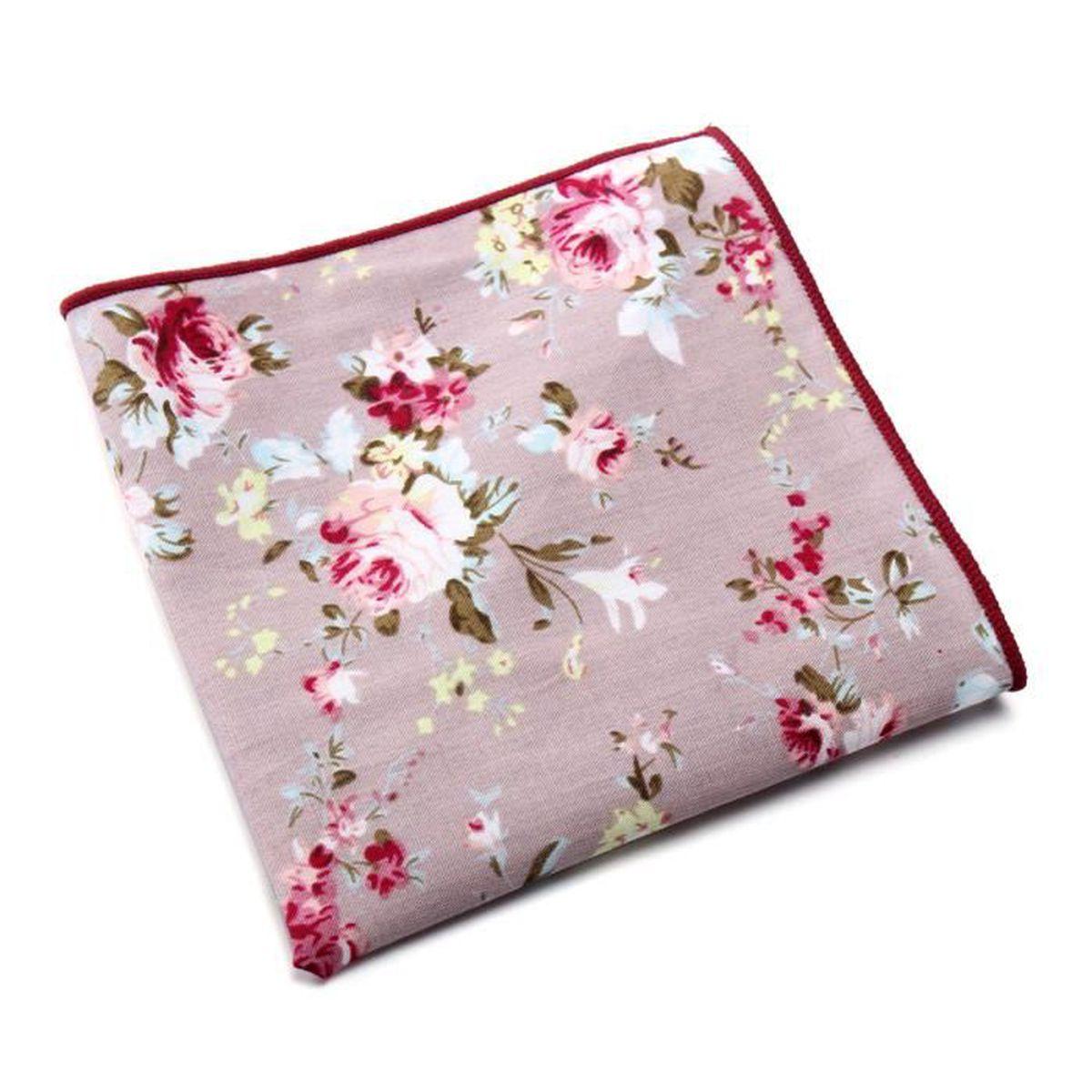 mouchoir de poche carr floral coton accessoire f te mariage costume homme mode achat vente. Black Bedroom Furniture Sets. Home Design Ideas