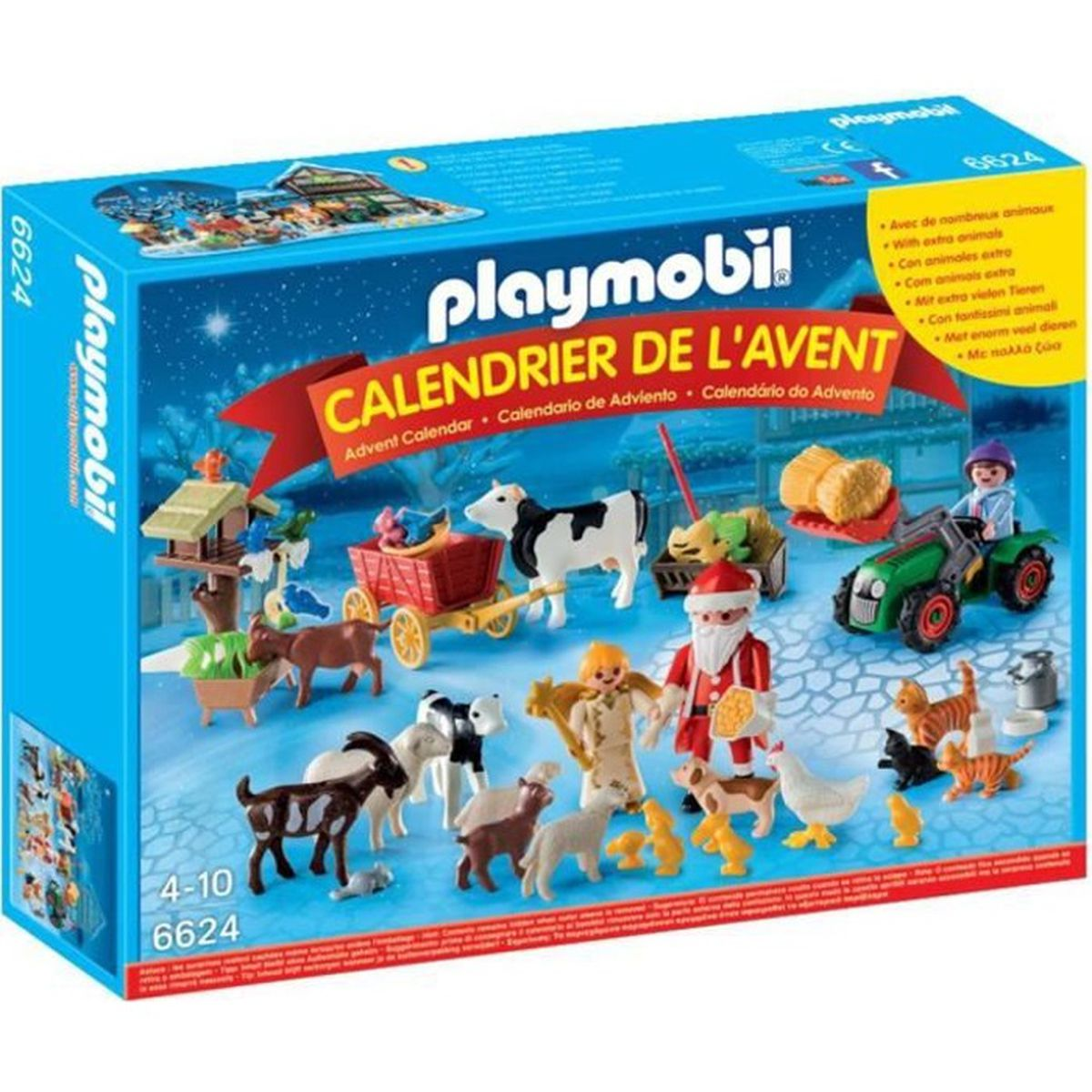 playmobil 6624 calendrier de l 39 avent p re no l la ferme. Black Bedroom Furniture Sets. Home Design Ideas