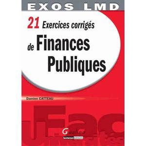 LIVRE DROIT PUBLIC 21 exercices corrigés de finances publiques