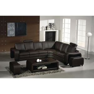 Canape 8 places achat vente canape 8 places pas cher cdiscount - Canape angle relax cuir ...