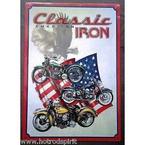 Deco plaques fer ou plaque emaillee  Plaque-publicitaire-en-metal-clasic-iron-indian