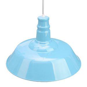 Lampe suspension bleu achat vente lampe suspension for Abat jour plafond pas cher