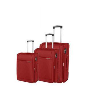 SET DE VALISES Set de 3 valises chariot classic confort rouge