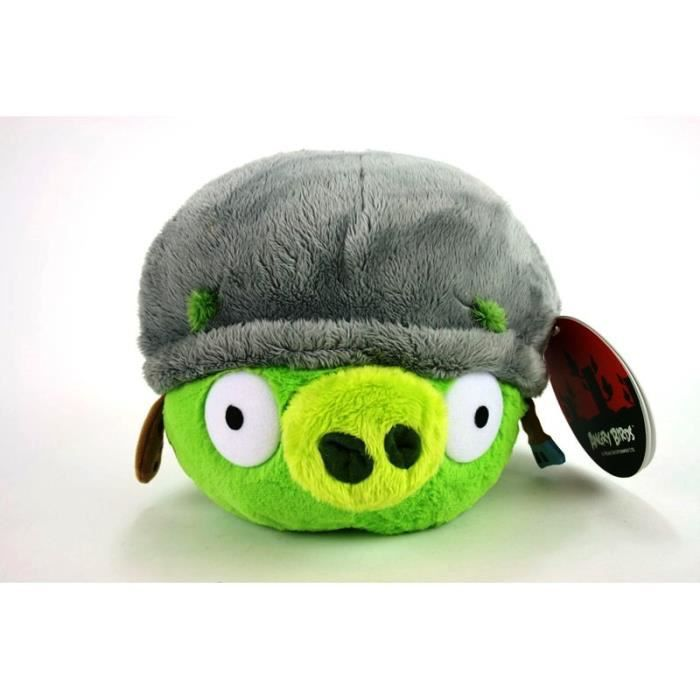 Peluche cochon angry birds avec casuqe 30 cm achat - Cochon angry bird ...