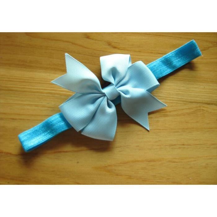 Bandeau noeud bebe enfant elastique polyester bleu clair achat vente bonnet cagoule - Bandeau noeud bebe ...