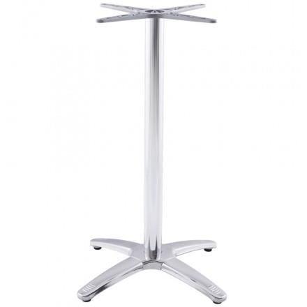 pied de table autan forme croix de grande taille en m tal chrom alluminium achat vente. Black Bedroom Furniture Sets. Home Design Ideas