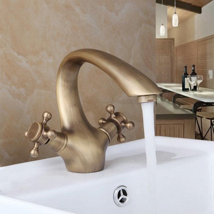 nouveau laiton antique boutons double salle de bains bassin vier m langeur achat vente. Black Bedroom Furniture Sets. Home Design Ideas