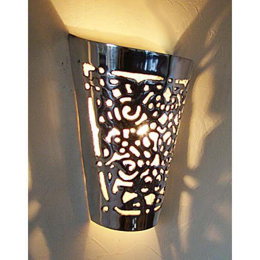 Applique marocaine en fonte d 39 aluminium lampe maroc lustre - Applique lanterne interieur ...