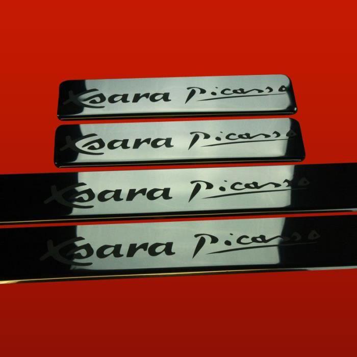 Citroen xsara picasso seuil de porte en acier inox qualite for Porte xsara picasso