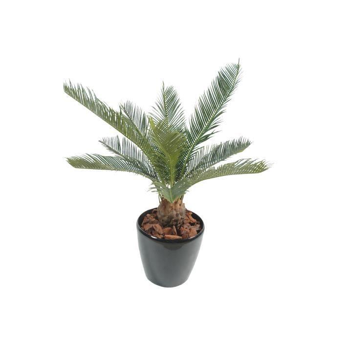 Palmier artificiel cycas 65cm plante tropicale achat for Plante artificielle palmier