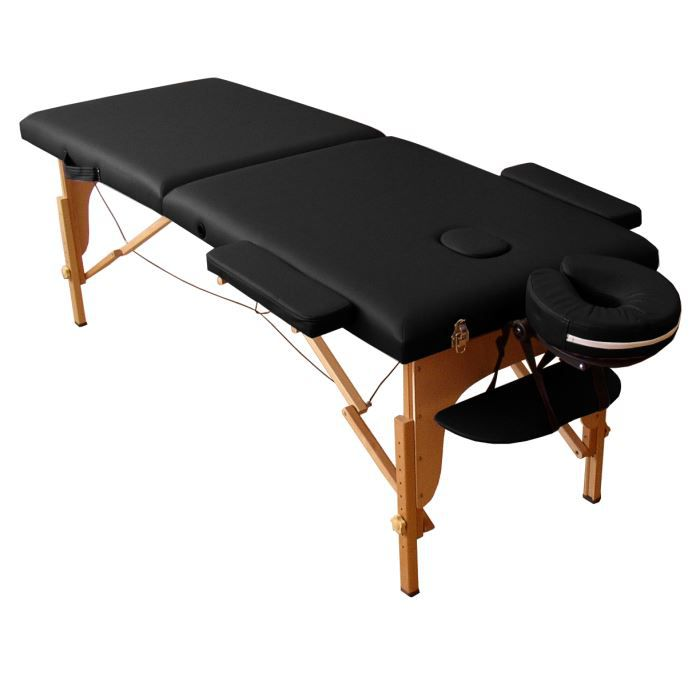m4k table de massage noire pliante portable bois achat vente table de massage m4k table de. Black Bedroom Furniture Sets. Home Design Ideas