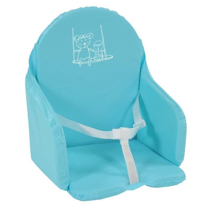 coussin de chaise avec sangle turquoise achat vente chaise haute coussin de chaise avec. Black Bedroom Furniture Sets. Home Design Ideas