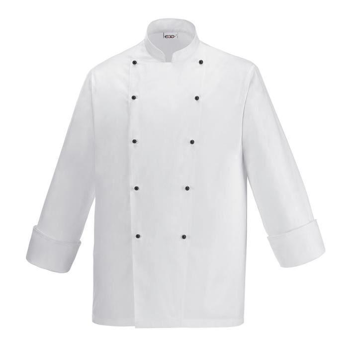 veste de cuisine klima blanc achat vente veste
