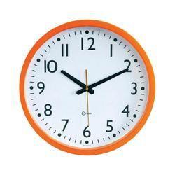 horloge murale orange 40 cm orium achat vente horloge. Black Bedroom Furniture Sets. Home Design Ideas