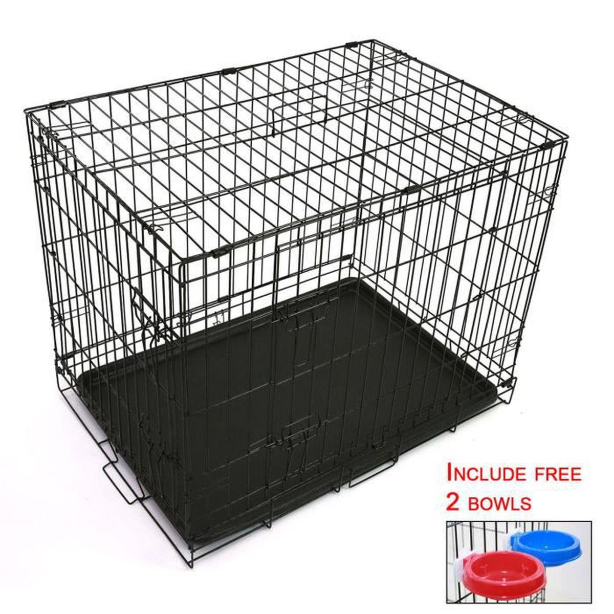 cage de transport pliable en m tal pour chien ou chat. Black Bedroom Furniture Sets. Home Design Ideas