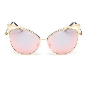 LUNETTES DE SOLEIL lunettes de soleil Mme tendance Metal cat hollow p