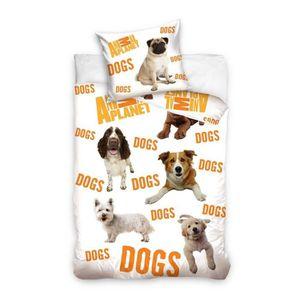 Housse de couette chiens achat vente housse de couette for Housse de couette teo jasmin 140x200