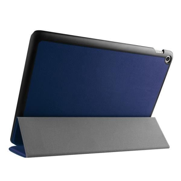 Asus zenpad 10 z300 coque housse cuir pu 3 plis bleu for Housse zenpad 10