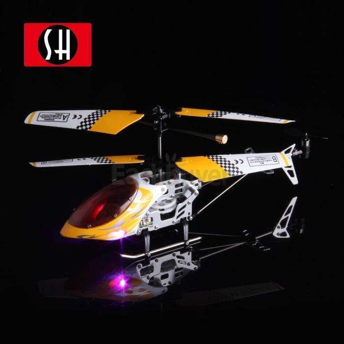 H licopt re t l commande rc 3 5 voies jaune achat vente avion h lico h - Helicoptere jaune et rouge ...