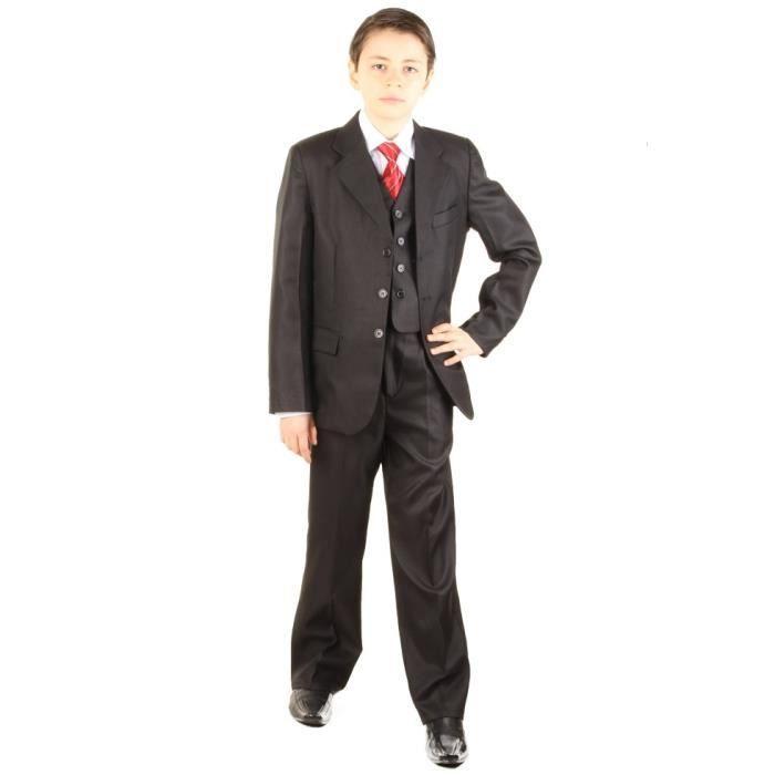 costume b b pour mariage 5 pi c noir achat vente costume tailleur cdiscount. Black Bedroom Furniture Sets. Home Design Ideas
