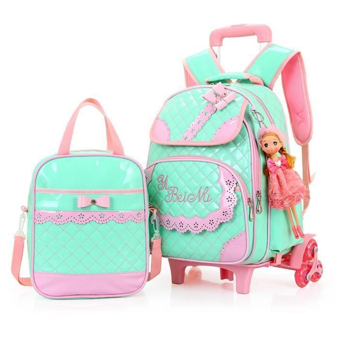 sac scolaire roulettes enfants fille sac d 39 cole pu sac de voyage 2016 image 2 achat. Black Bedroom Furniture Sets. Home Design Ideas