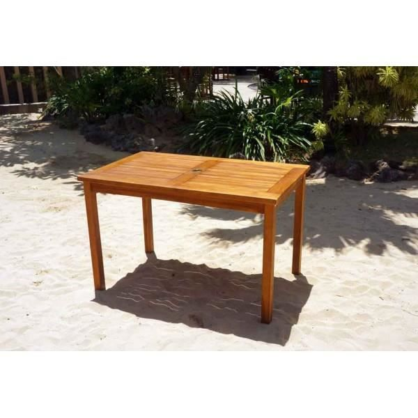 Table De Jardin En Teck Huil 120 X 70 Cm Achat Vente Table De Jardin Table De Jardin En