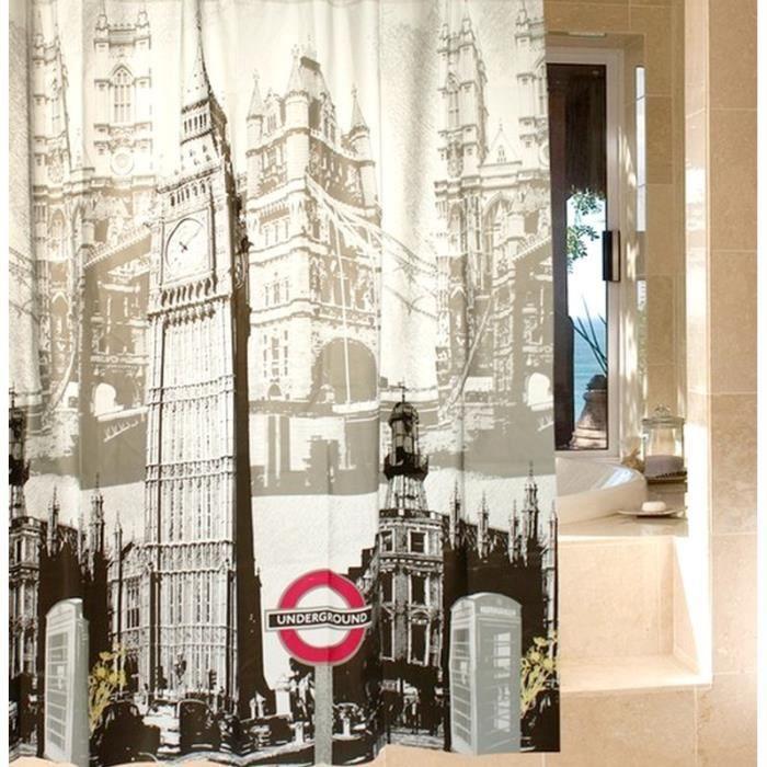 Rideau de douche london 180x180 achat vente rideau de douche london 1 cdiscount - Rideau de douche 180x180 ...