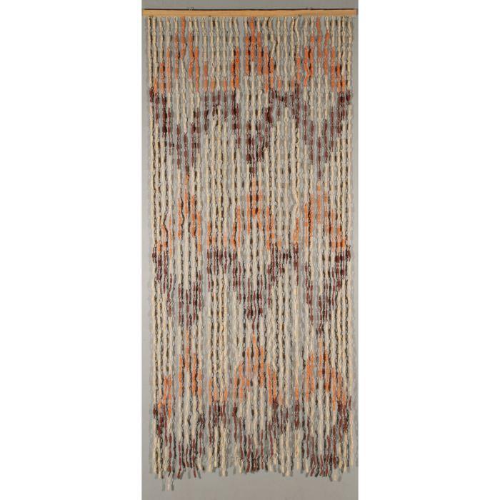 rideaux de porte d coratif losange achat vente rideaux de porte d coratif cdiscount. Black Bedroom Furniture Sets. Home Design Ideas