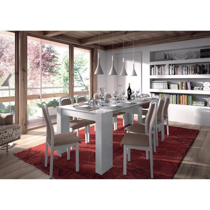 console extensible 237cm laqu blanc achat vente. Black Bedroom Furniture Sets. Home Design Ideas