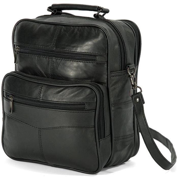 sacoche bandouliere cuir homme noir noir achat vente sacoche 3662796038246 cdiscount. Black Bedroom Furniture Sets. Home Design Ideas