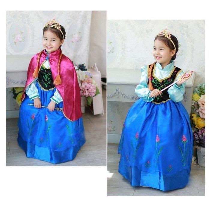 dguisement panoplie robe princesse elsa anna la reine des neiges