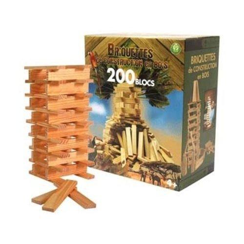 200 briquettes de construction en bois achat vente assemblage construction 200 briquettes en. Black Bedroom Furniture Sets. Home Design Ideas