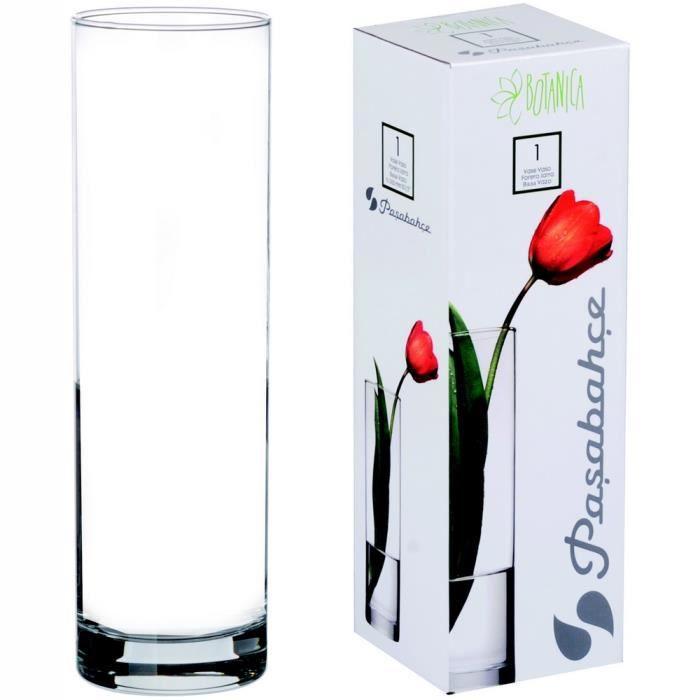 vase en verre cylindrique achat vente vase en verre. Black Bedroom Furniture Sets. Home Design Ideas