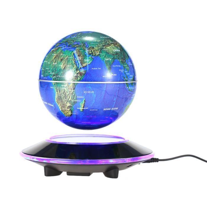 6 led globe terrestre flottant maglev l vitation. Black Bedroom Furniture Sets. Home Design Ideas