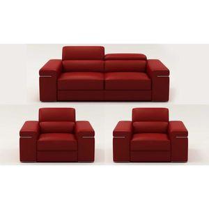 canape cuir 3 places et 1 fauteuil achat vente canape cuir 3 places et 1 fauteuil pas cher. Black Bedroom Furniture Sets. Home Design Ideas