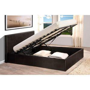 lit coffre 140x190 sommier achat vente lit coffre 140x190 sommier pas cher cdiscount. Black Bedroom Furniture Sets. Home Design Ideas