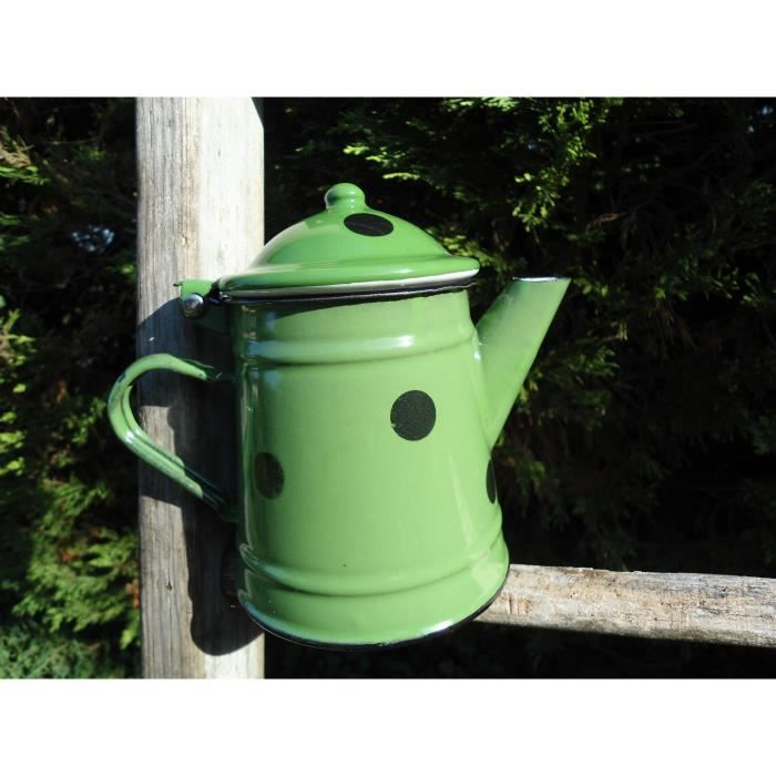 cafetiere 1 2 litre emaillee verte a pois mail achat vente cafeti re th i re cdiscount. Black Bedroom Furniture Sets. Home Design Ideas