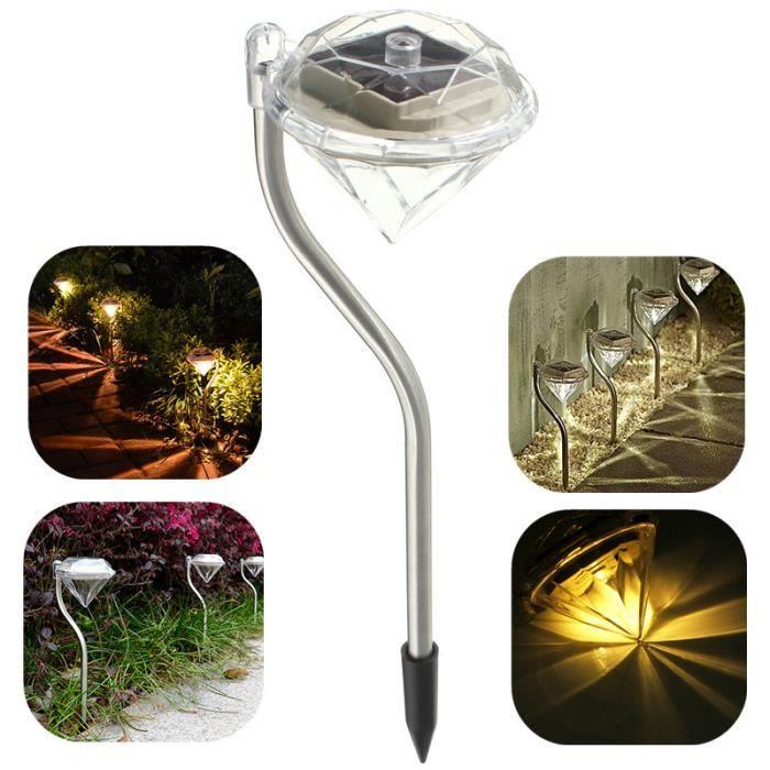 4pcs ext rieur led lampe solaire puissance garden light diamond imperm able ext rieur pelouse for Lampe solaire jardin brico