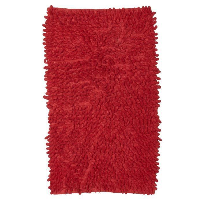 tapis de salle de bains bouclette rouge 50x80 par dezenco achat vente tapis soldes. Black Bedroom Furniture Sets. Home Design Ideas