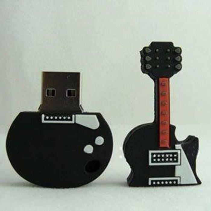 guitare en forme super speed usb 16go de m moire flash. Black Bedroom Furniture Sets. Home Design Ideas