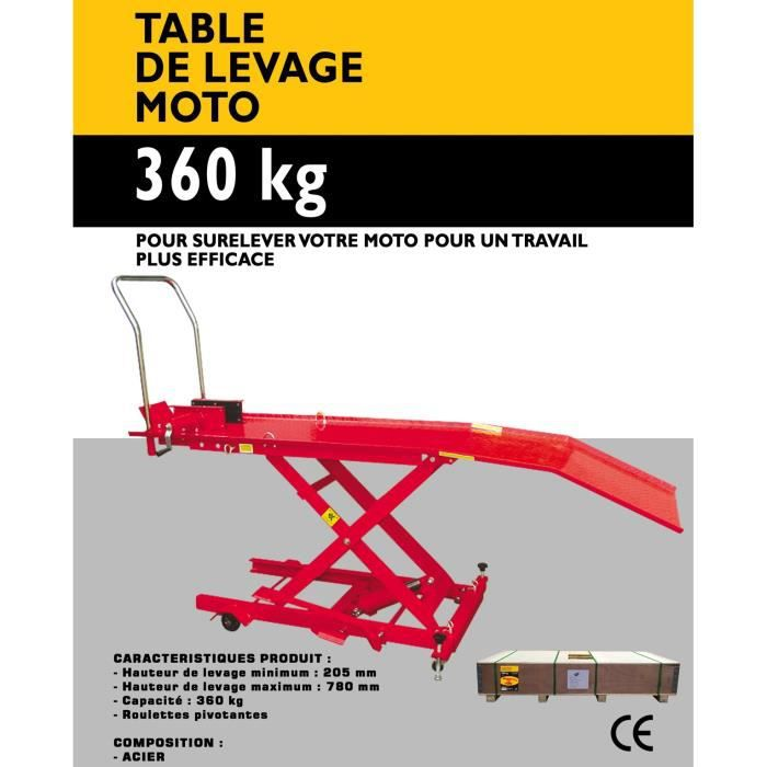 Table de levage moto 365kg autoselect achat vente l ve moto table de levage moto 365kg - Table de levage moto occasion ...