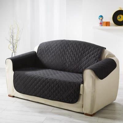 prot ge canap 3 places uni club noir 279x179cm noir achat vente housse de canape cdiscount. Black Bedroom Furniture Sets. Home Design Ideas