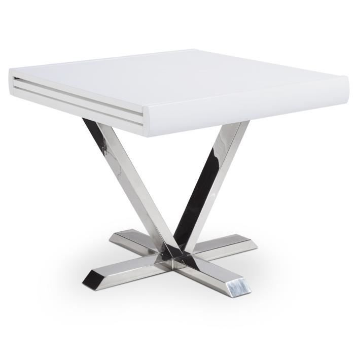 Table vicky blanc achat vente table a manger seule for Table a manger console extensible
